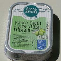 Sardines Huile Olive Vierge